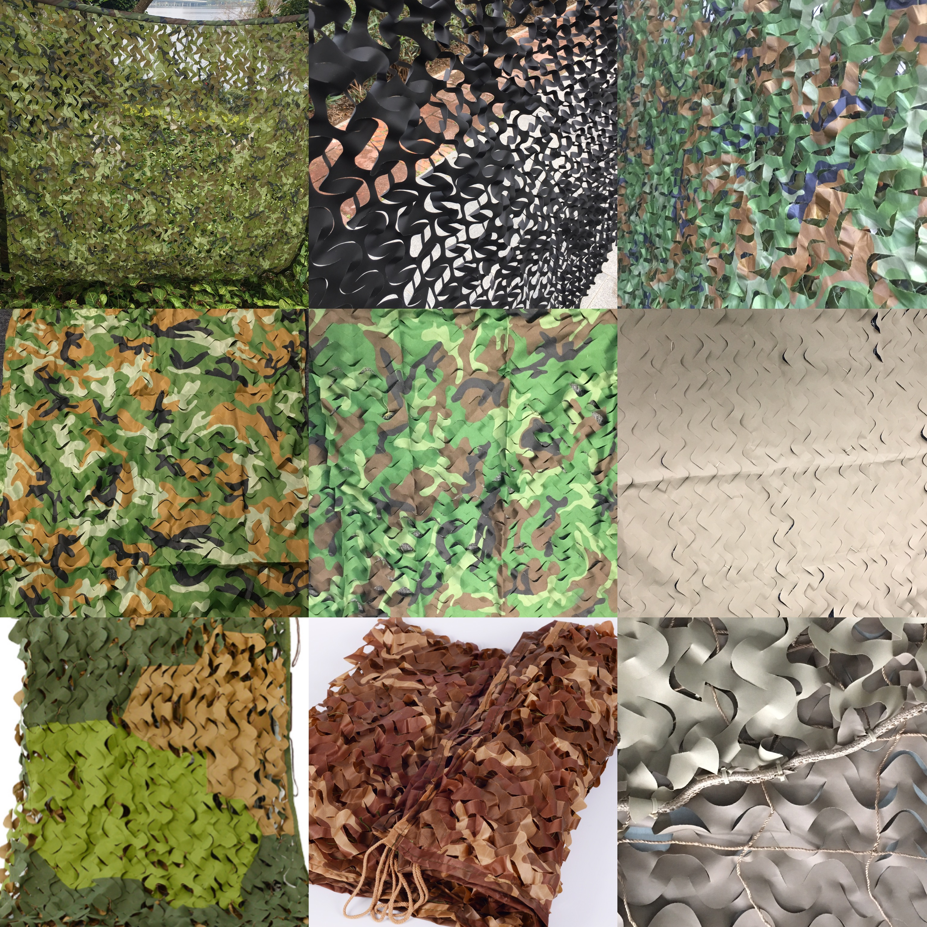 Army Camo Net Triple Layered Desert Military  Camouflage Net Fabric For Hunting Shooting