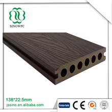 Vivid and beautiful co extrusion wood teak boat deck