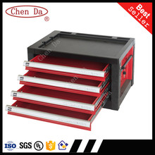 High quality 4 drawer cabinet/small storage cabinet on table top/tool box with tool