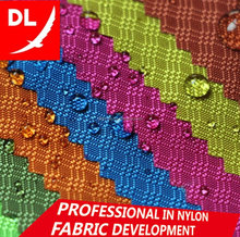 waterproof wholesale 210D ripstop jacquard nylon oxford fabric three-lines pattern PU coated