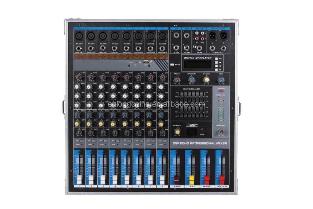 Professional Stage Dj Equipment 8 channel PA Sound Mixer Console