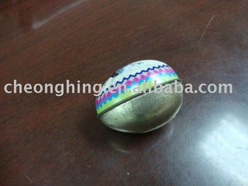 Egg shape tin box