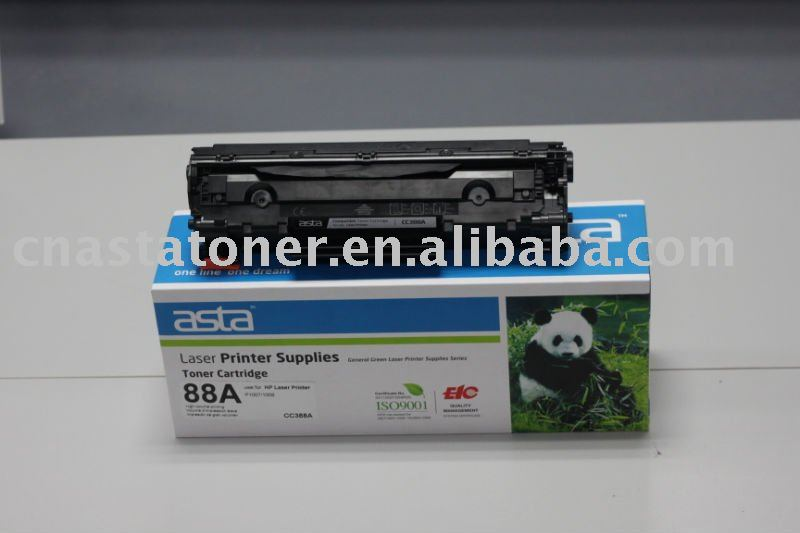 Compatible black toner cartridge CC388A for laser P1007/P1008