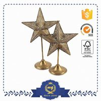 Custom Color Small Order Accept Metal Star Candle Holders