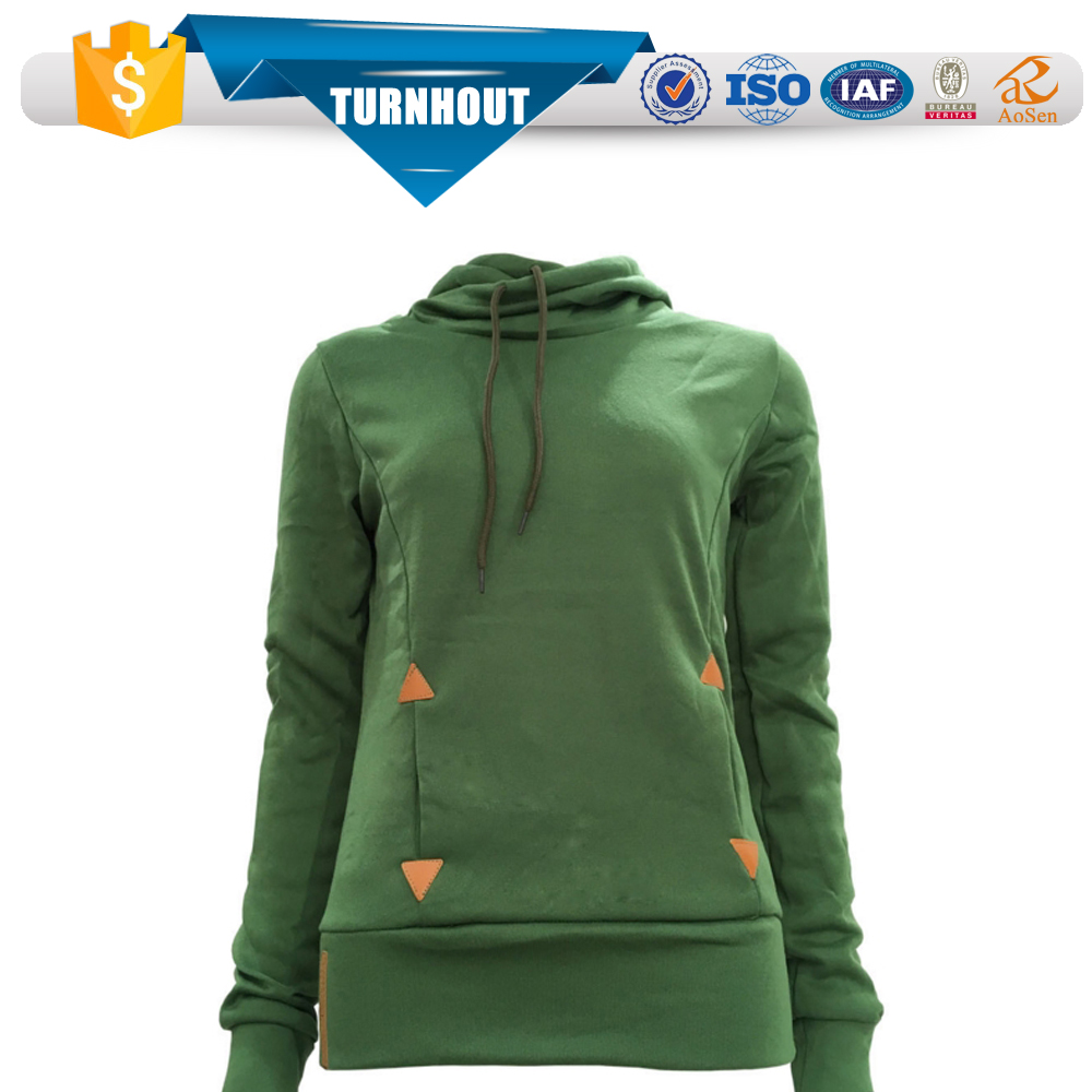 OEM Blank High Quality Tall neck Hoodies Wholesale Cowl Neck women wears Hoodies