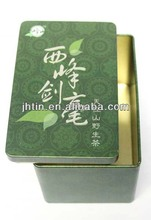 Green packaging metal Tea tin box Double cover caddy