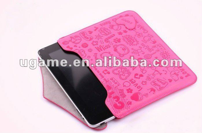 Cute Little Witch Envelope Leather Liner Bag for iPad 2 3