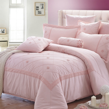 100% cotton comforter pink printed bedding comforter sets luxury