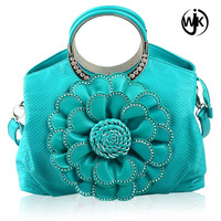 2017 new fashion high quality pu leather wholesale durable women lady leather handbags thailand