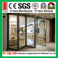 Philippines aluminum exterior accordion folding door toilet with double glazed