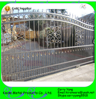 Factory Price Ornamental Indian House Main Gate Designs, Wrought Iron Gate Designs