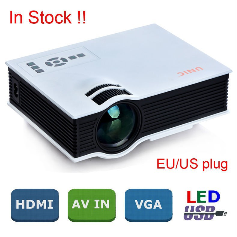 2015 Newest 800 Lumens and 800x480 Mini <strong>Portable</strong> Led Projector UC40 with USB HDMI For Home Theater Beamer Multimedia Projector