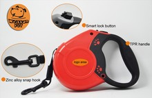 (4331) Retractable dog leash made by genuine leather for dogs dog leash metal clips