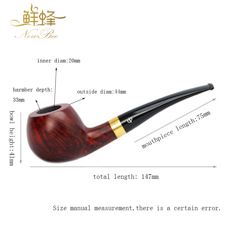Briar Wood Men's Tobacco Weed Smoking Pipe