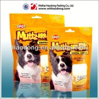 China manufacturer custom printed stand up pet food bag with ziplock