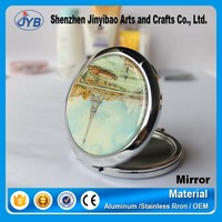 hot sale makeup mirror design landscape embosed makeup mirror scenery makeup mirror