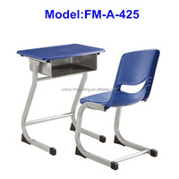 No.FM-A-425 Modern school desk and chair