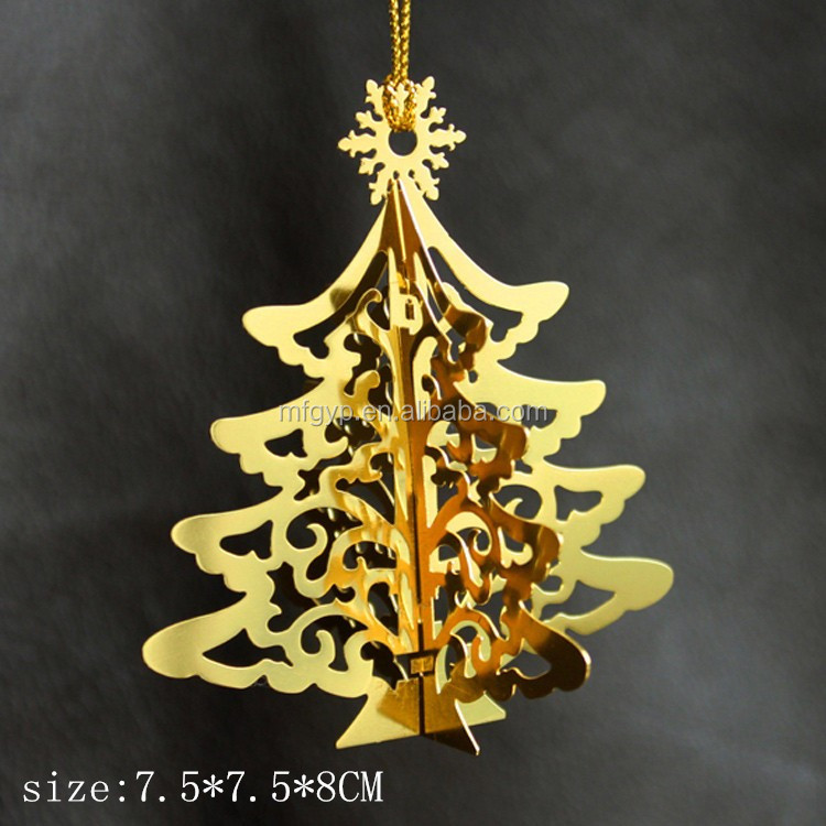 Free samples metal items custom retail christmas tree decoration