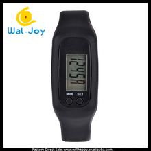 WJ-4751 silicone wristband multifunctional promotional pedometer running watch 2016