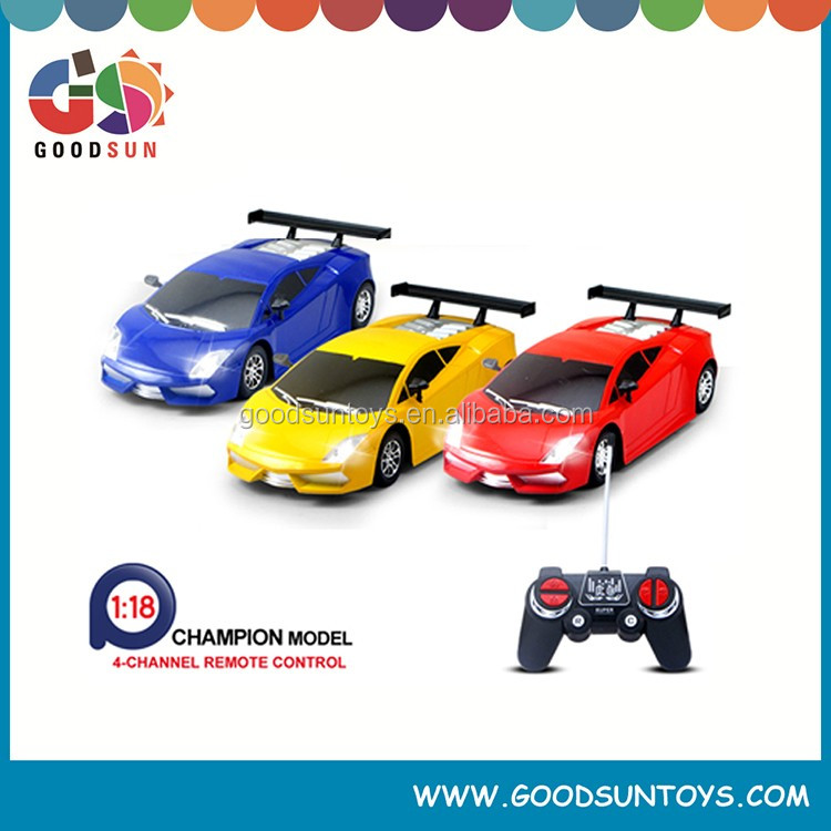 Hot selling 1:18 4 CH RC Car speed up rc cars remote control car plastic toys for sale children toys not include battery