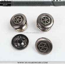 blank metal rivet with printed custom logo, OEM service