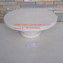 white Marble Cake Plate on Pedestal