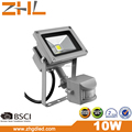 Park light PIR Sensor 10W COB LED Flood light 100-240VAC IP65 wateproof outdoor lighting wihite color