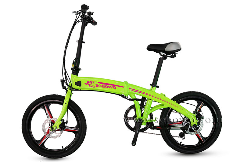 Low price Best e cycle electric bike/bicycle foldable 2017 chinese/china newest green power mini folding ebike integrated wheel