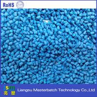 hdpe/pp/pc virgin materials granules blue masterbatch for injection molding/plastic case