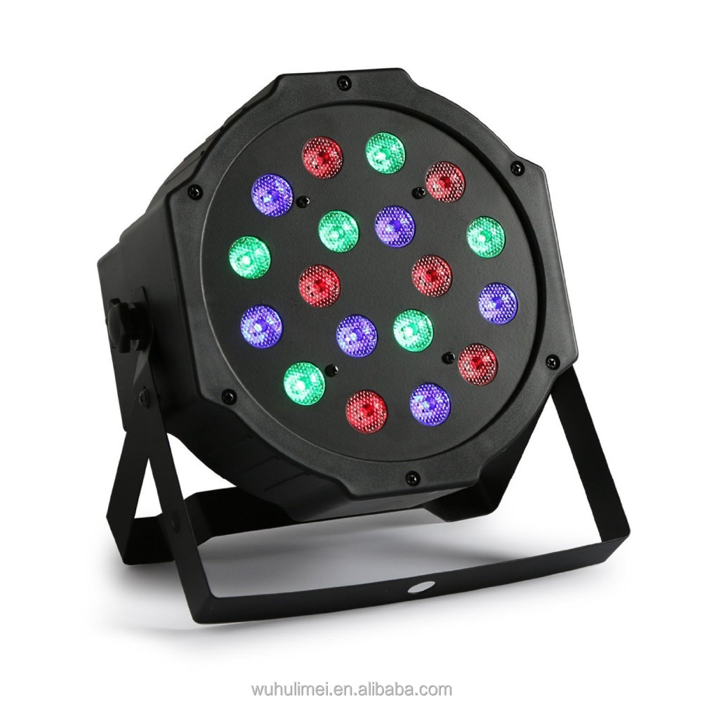 Light 18 LEDs DMX512 Color Mixing Wash Stage Light RGB PAR Disco DJ Wedding Party Show Live Concert Lighting