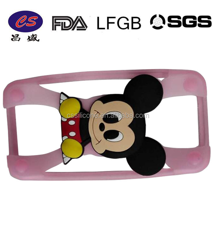2015 HOT!!! lovely Wholesale 3D cute funny mobile animal silicone case for iphone 4 5 6s