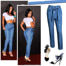 monroo New fashion Lady loose leg big size denim Jeans hot sale jeans