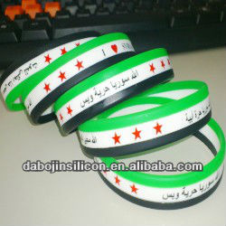 Arabic words 3 layer free syria flag bracelet