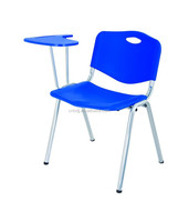 good quality hot sale plastic chair with writing pad used school furniture plastic tables and chairs
