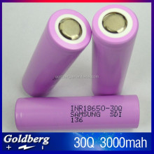 100% Original Samsung INR18650-30Q battery,18650 3.7V 3000mah high power battery ,Samsung rechargeable ecigmod 18650 30Q battery
