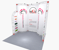 small package but high quality trade show exhibition display booth