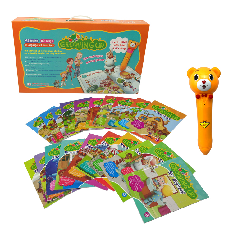 Best English Learning Sonix Talking Pen and Audio English Book Growing Up 20 Books