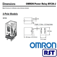 DPDT PCB 220/240VAC Latching relay