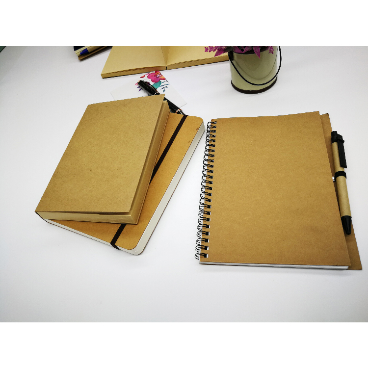 Custom Logo Print A5 Journal Sewing Stitching Blank Kraft Paper Notebook Sketch Book