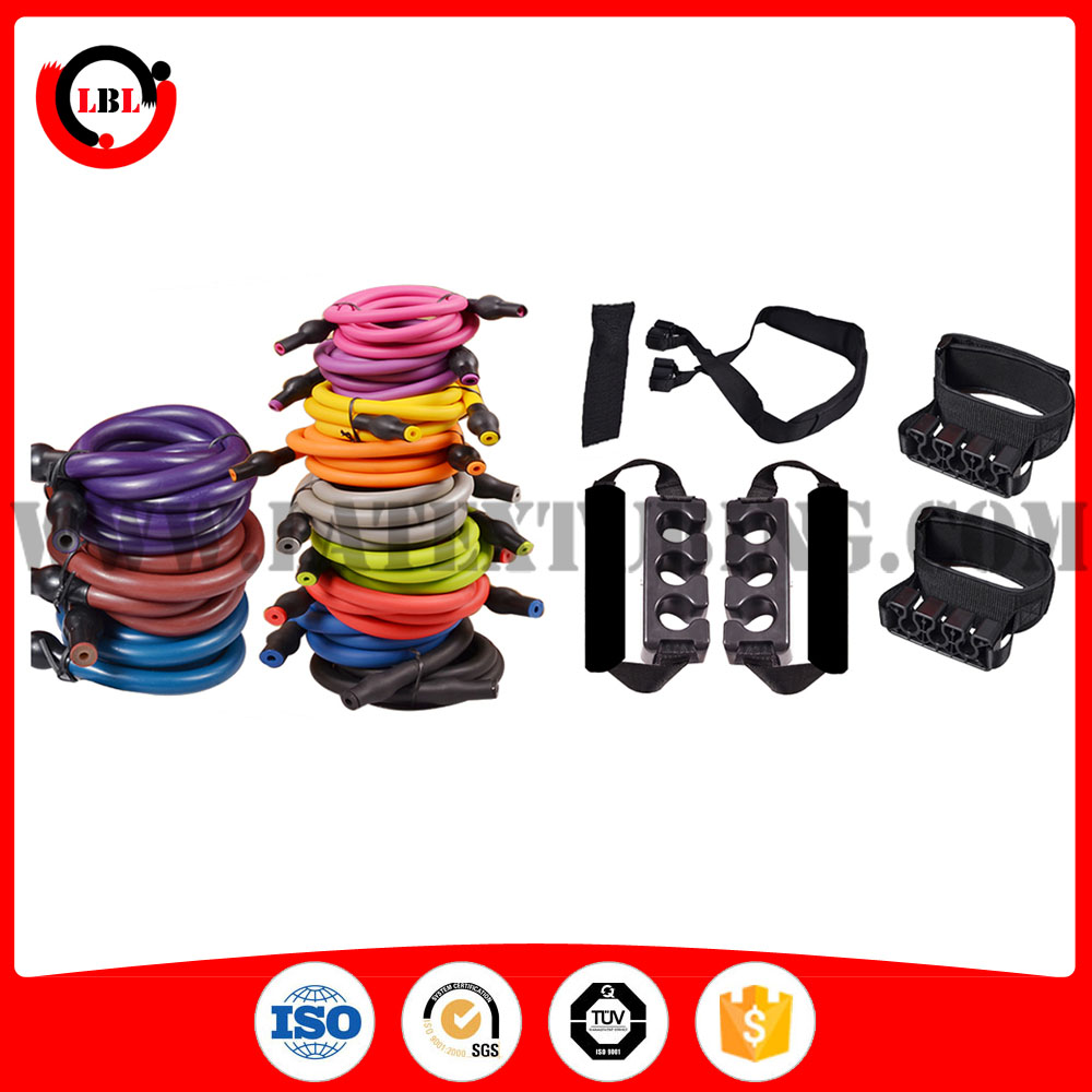 Fitness Bands With Handles: Resistance Bands Exercise With Detachable Handles And