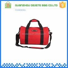 Waterproof red fast delivery polyester sport gym bags