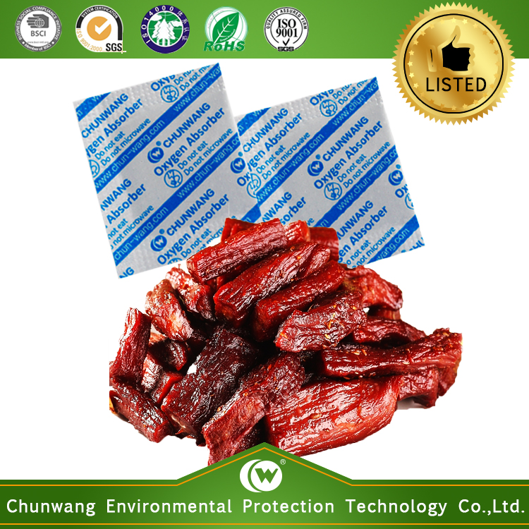 Food Grade Certificated Oxygen Absorber for Dried Meat