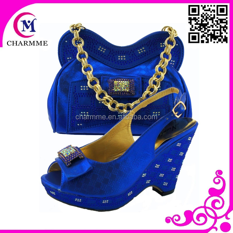 autumn shoes and bag under 40 price pu shoe and bag csb -324 blue