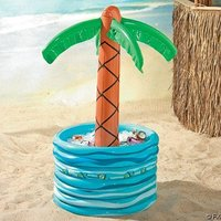inflatable palm tree cooler bucket/inflatable ice bucket/party item