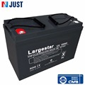 Super power 12v 100ah deep cycle gel battery for factory custom made