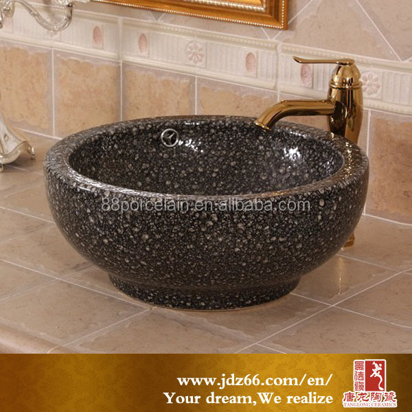 New natural stone feeling black ceramic wash basin lavatory overflow hole cover for modern house design