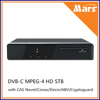 DVB-C STB Cable TV receiver, DVB-C HD STB with Novel Conax Dexin ABV CAS