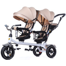 wholesale cheap china carrier 1 year twin baby stroller tricycle