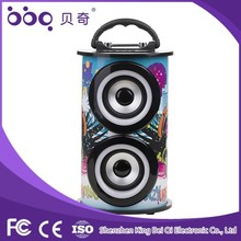 2 external microphone slots near handle to Karaoke function cute bluetooth speaker