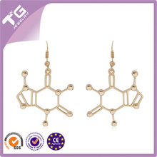 MDMA Molecule Structure Nifty Earrings Lovely Trendy Simple Jewelry Chemical Formula Eardrops For Best Friends Lovers Wholesale